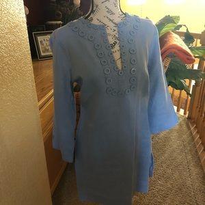 Preloved 100% Linen tunic by Kenar size Med